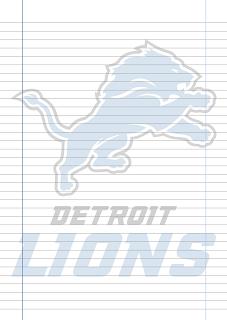 Papel Pautado Detroit Lions PDF para imprimir na folha A4