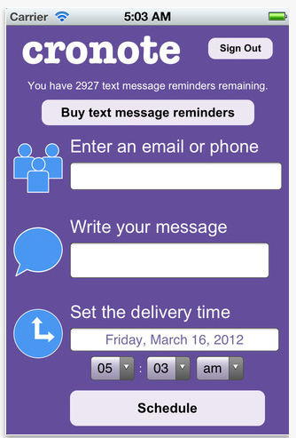 New iPhone App Lets You Schedule, Send Emails/Text Messages