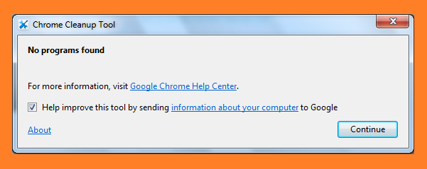 Google Chrome Cleanup Tool