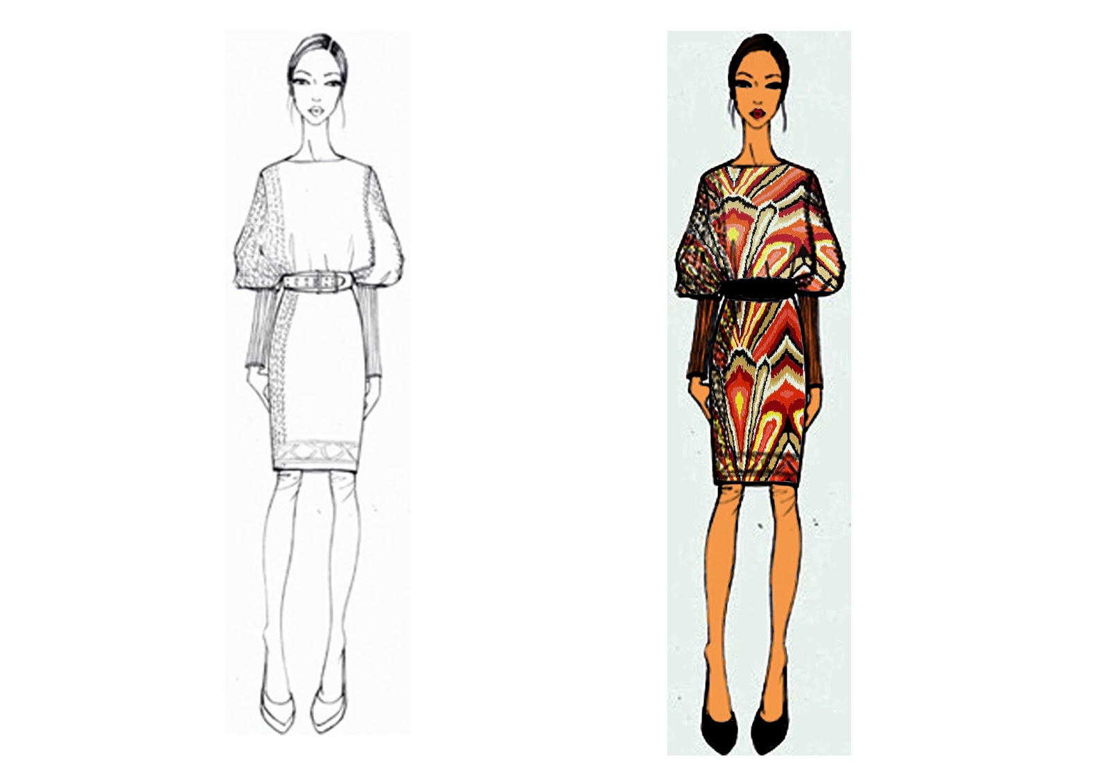 FMDS  Design communication and technology  Fashion CAD Coloring croquis using photoshop