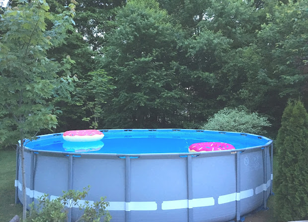 intex pool landscaping - leave