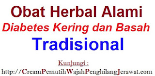Obat Herbal Alami Diabetes Kering dan Basah Tradisional