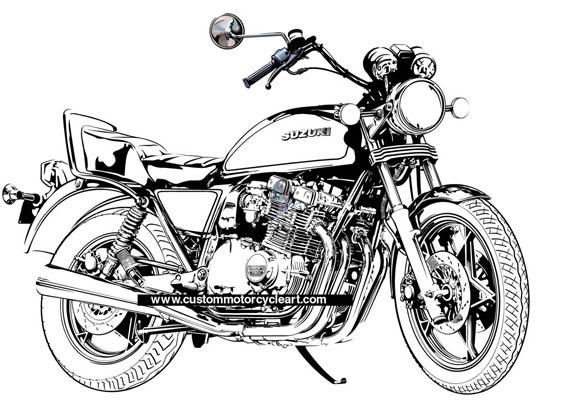 www.custommotorcycleart.com: Suzuki GS1100L commission.