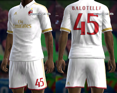 PES 2013 Milan 16/17 away kit by vladroman