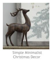 Simple Minimalist Christmas Decor at Pieced Pastimes