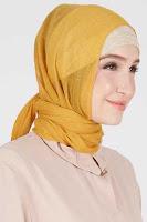 HijaBenka Kerudung Hijab Pashmina Shiny Orange Oadira ANDHIMIND
