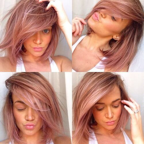burgundy red highlights for blonde hair