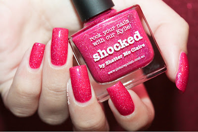 "Swatch of the nail polish ""Shocked"" by Picture Polish"