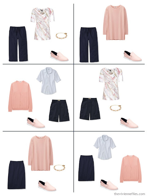 six ways to wear blush with navy and white for warmer weather