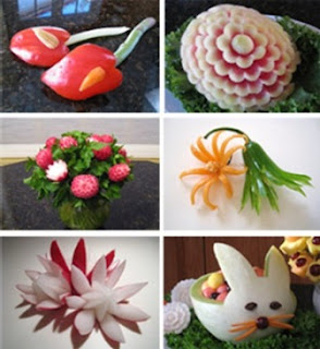 Mengukir buah dan sayuran: vegetable and fruit carving