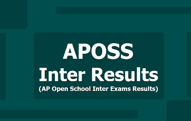 APOSS Inter 2019 Results|AP Open School Inter Exams Results 2019