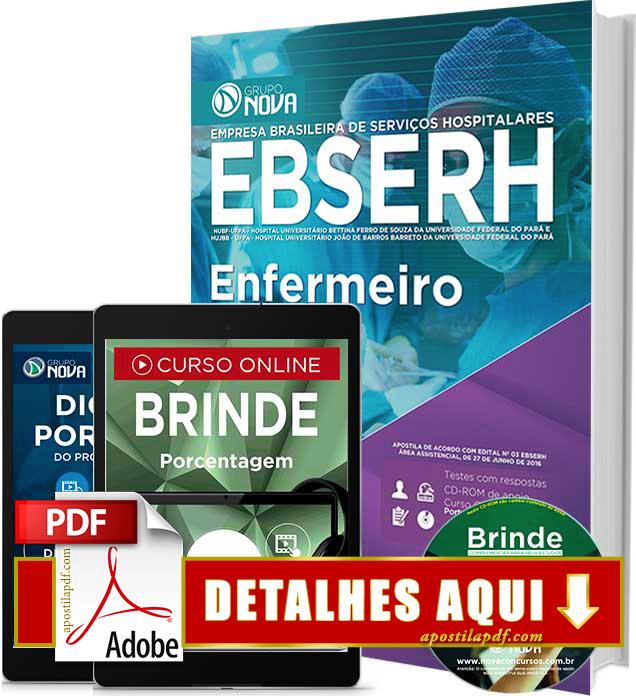 Apostila EBSERH PA 2016 Enfermeiro Impressa