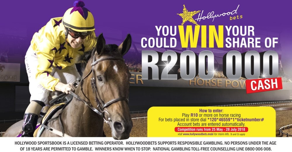 Horse Racing Promotion - Win Your Share of R200,000 - Hollywoodbets
