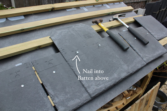 how to build a shed roof with tiles