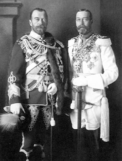 Nicolas II y Jorge V de Inglaterra