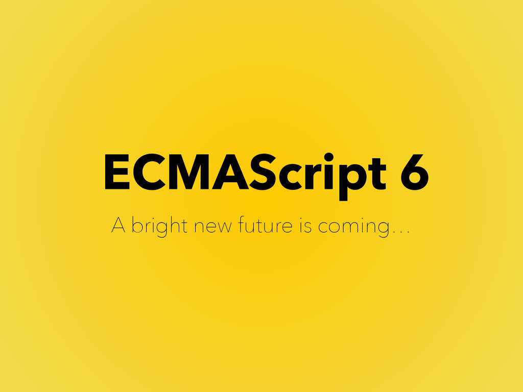 JavaScript Concise methods - ES6