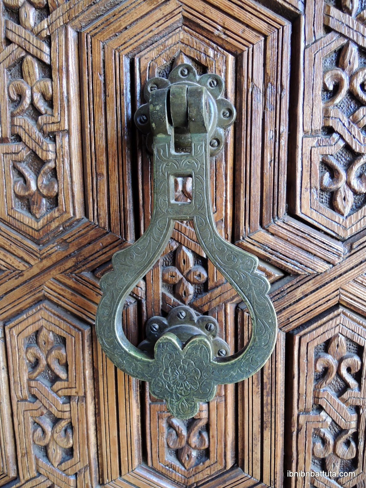 Handcrafted door knocker, Museum of Marrakech