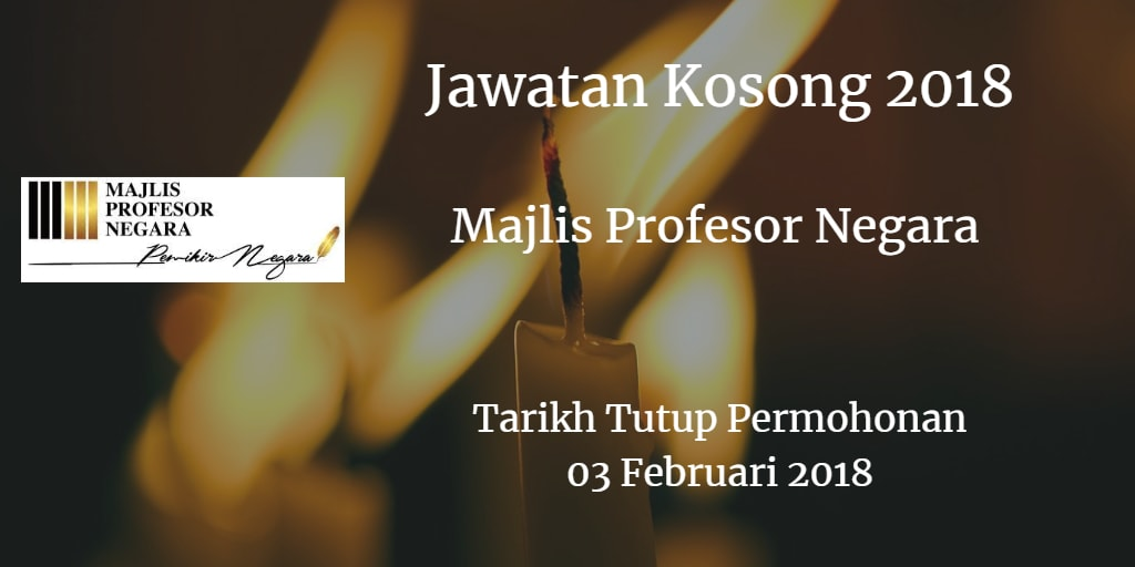 Jawatan Kosong MPN 03 Februari 2018