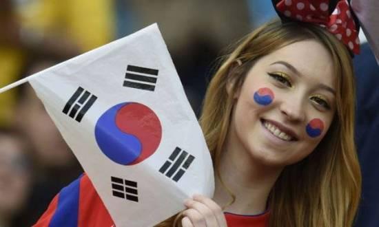 Suporter cantik Korea selatan piala dunia 2018