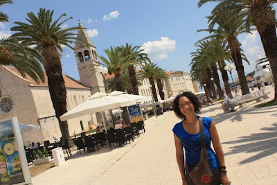 Promenade of Trogir in Croatia
