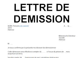Modèle lettre de démission avec préavis en word doc | Cours génie civil - Outils, livres ...