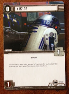 R2-D2 card from Star Wars card game