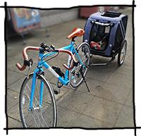 Fahrradtour mit dem Hund