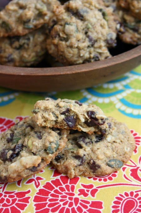 Healthy Whole Wheat Trail Mix Cookies