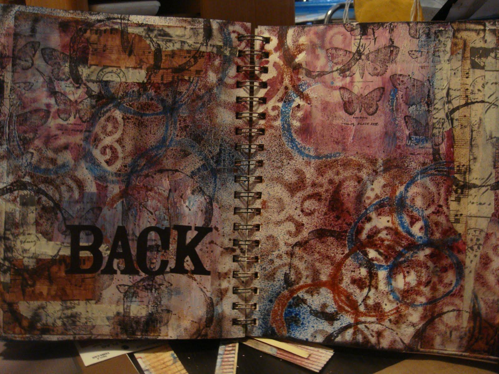 Journal Artista Portfolio Oil Pastel Resist In Art Journal