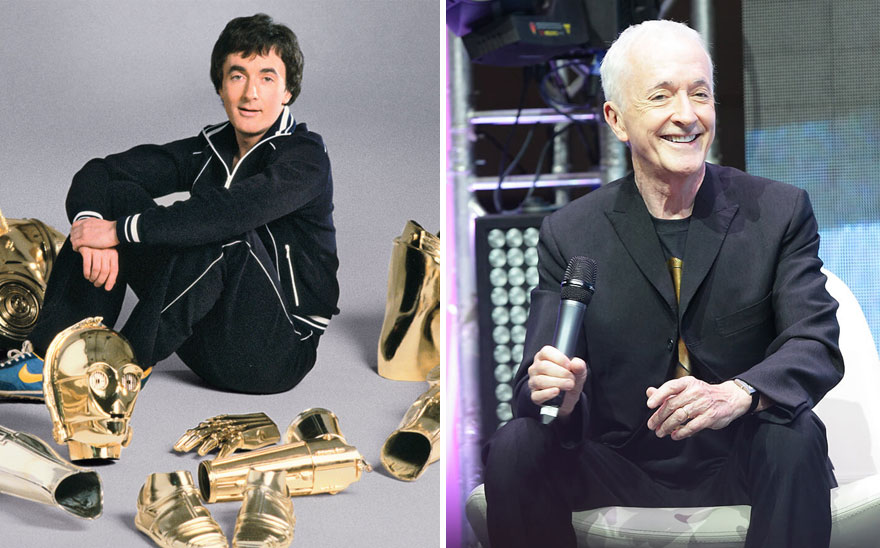 Anthony Daniels As C-3Po,1977 And 2015
