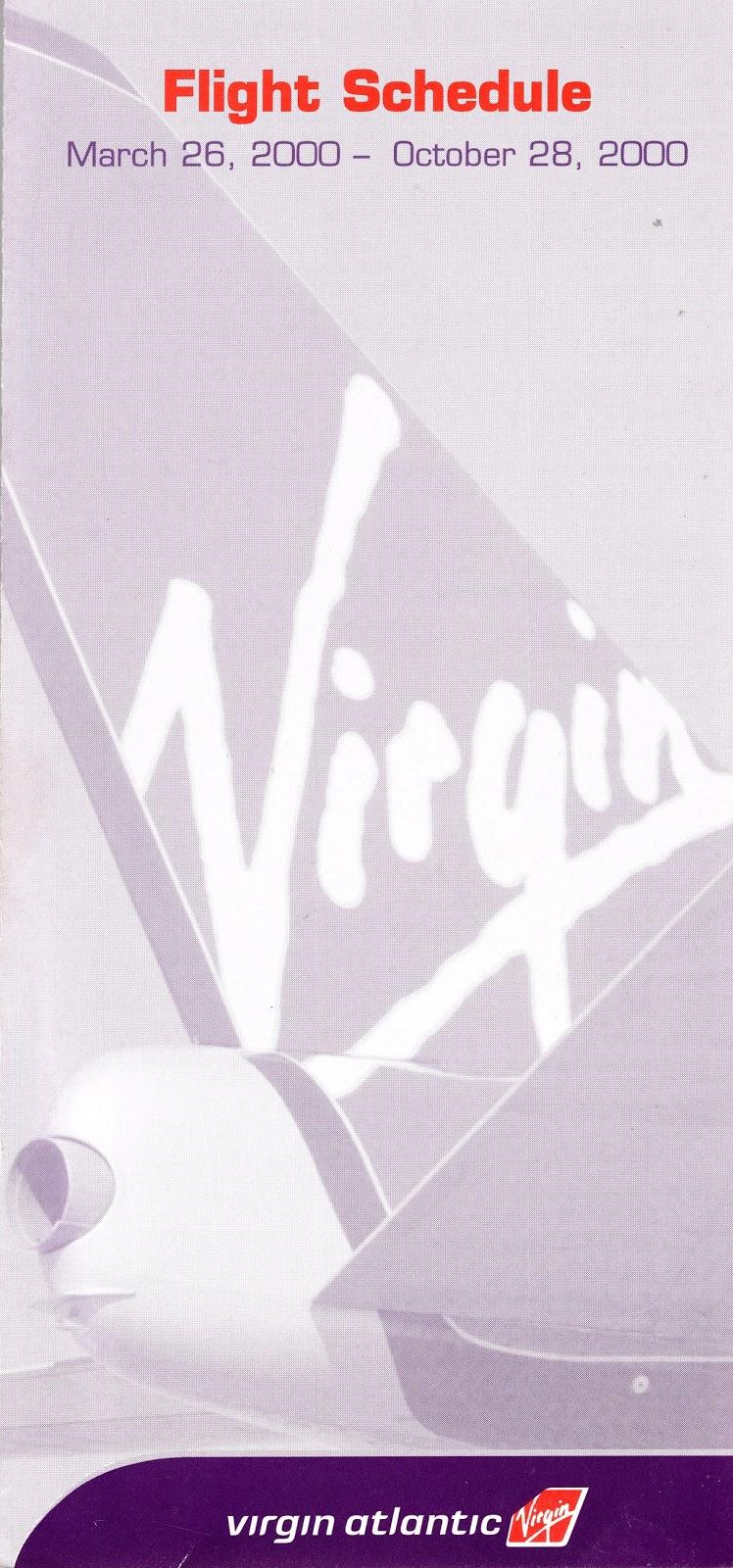 Airline Timetables: Virgin Atlantic - March, 2000