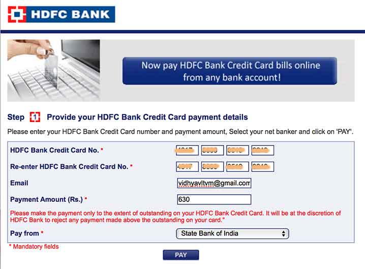 Hdfc bank forexplus card application form