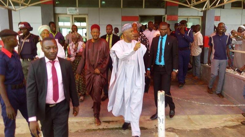 Warm welcome for Saraki as he arrives Kwara State