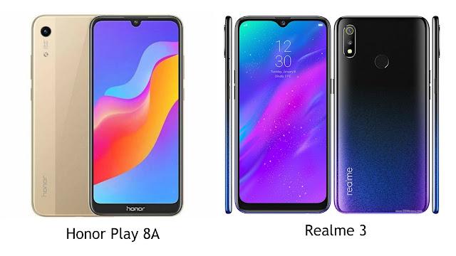 Perbandingan Spesifikasi Honor Play 8A VS Realme 3, Mana Lebih Baik?