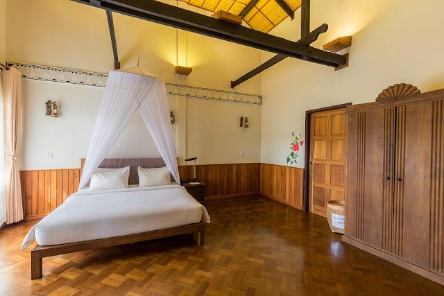Dormitorio hotel Spring Lodge Inle