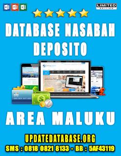 Jual Database Nasabah Deposito Maluku