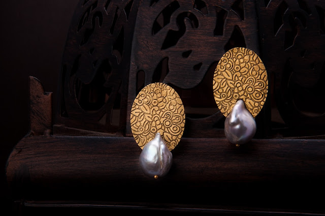 Kundalin Baroque Pearl Earrings