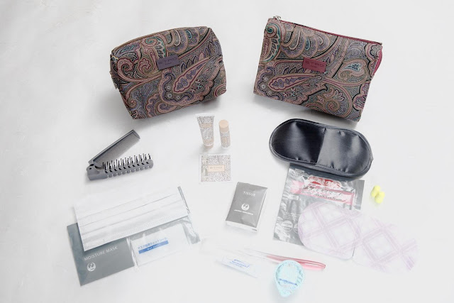 New JAL First Class amenity kits designed by ETRO