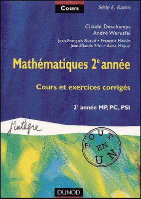 Télécharger Livre Gratuit Cours et exercices corrigés - Mathématiques 2ème année MP/PC/PSI pdf