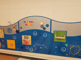 wall-mounted early literacy activities