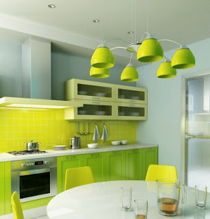 Kitchen Interior Design green theme for your comfortable house