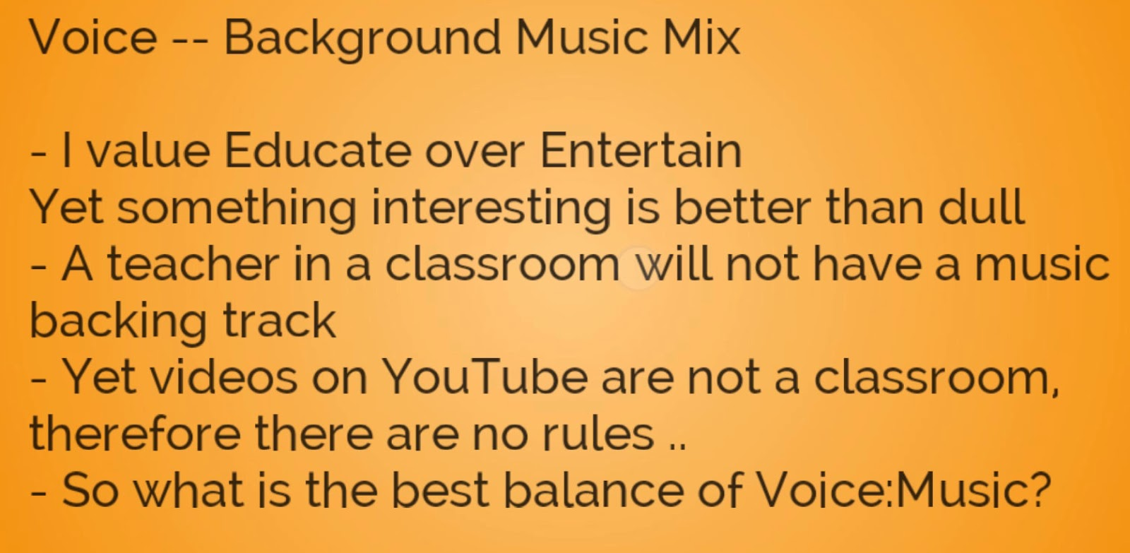 mike downes - we make videos to help people learn: Mixing