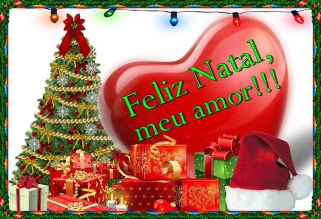 Cartões postais de Feliz Natal, meu amor