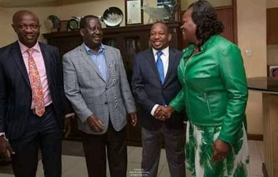Nairobi Governor Mike Sonko with Raila Odinga. PHOTO | Courtsey