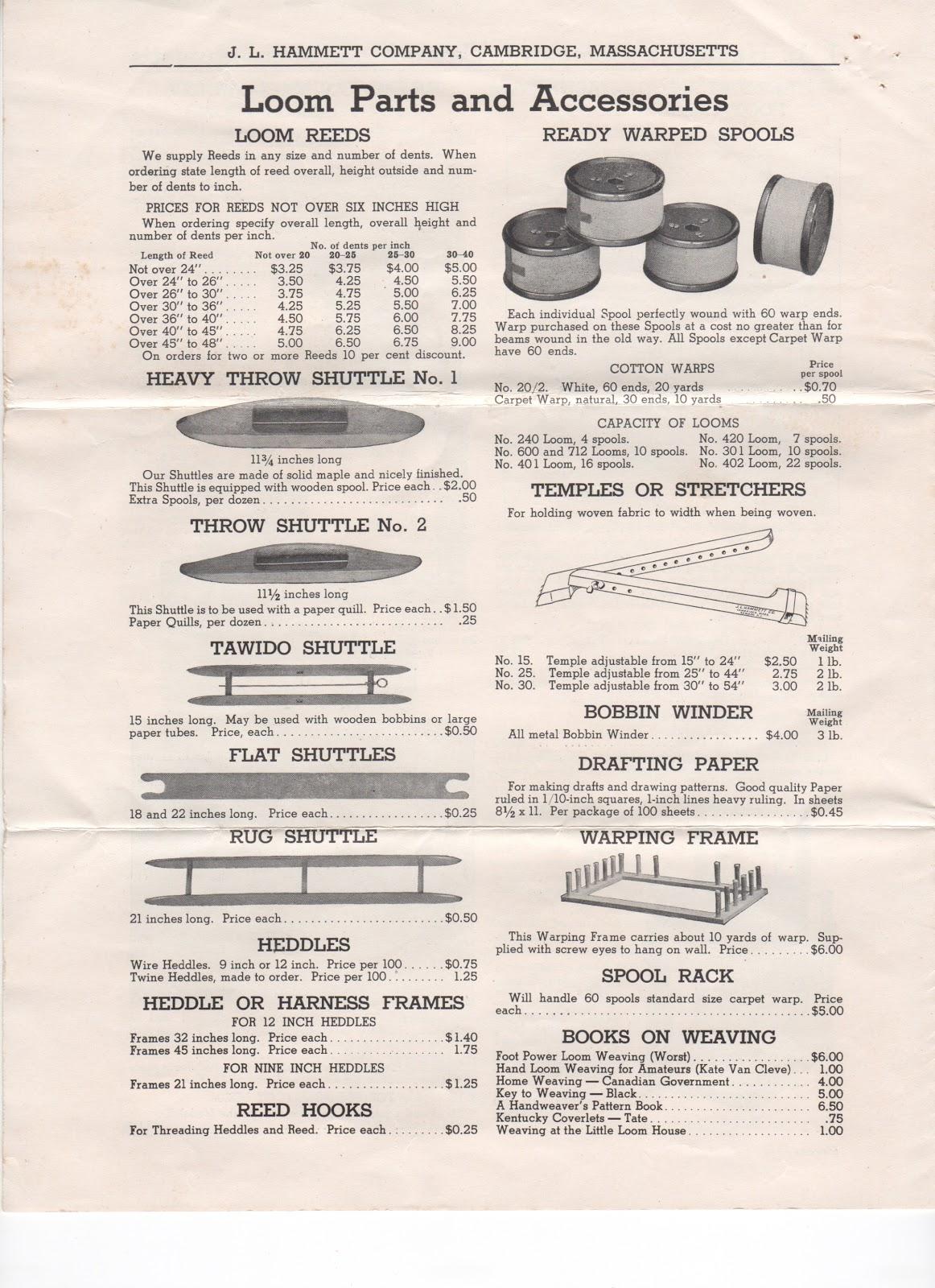 Hammett loom manual