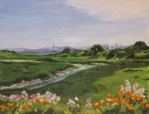 East bay landscape painters leslie tenney meeker slough for Landscaping rocks east bay