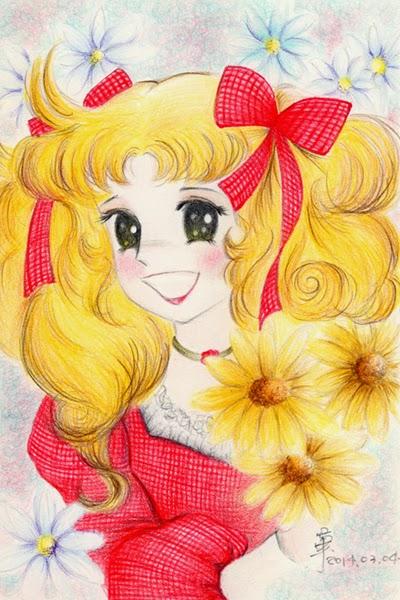 【 彩繪色鉛筆 】: 童年回憶-小甜甜