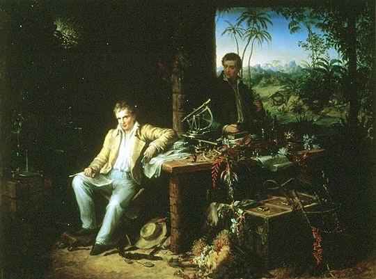 Alexander Von Humboldt y Bonpland en la selva amazónica