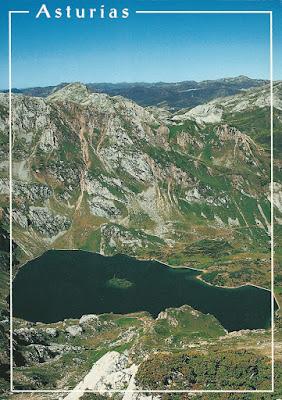 Lago del Valle, Somiedo. Postal de Ed. Moro