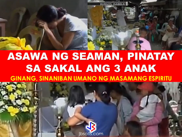 Burgos, Isabela: Three kids including a 3-month-old baby died of strangulation in the hands of their own mother. GMA News report said that the mother is facing multiple parricide charges for taking the lives of her kids with ages three, two and a 3-month-old baby.   Their relatives found out about the horrific incident when her 7-year old kid got away and sought the help of their grandparents. According to the suspect's brother-in-law, few days before the incident happened, the woman was acting strange  and hurting her kids The woman is believed to be undergoing severe depression. The suspect insisted that there was an evil spirit that had her possessed and caused her to do the violent crime leading to strangling of  her own kids.  Her husband who work overseas as a seaman is scheduled to come home to find out that he tragically lost three of his beloved children in the hands of their own mom.   RECOMMENDED  BEWARE OF SCAMMERS!  RELOCATING NAIA  THE HORROR AND TERROR OF BEING A HOUSEMAID IN SAUDI ARABIA  DUTERTE WARNING  NEW BAGGAGE RULES FOR DUBAI AIRPORT    HUGE FISH SIGHTINGS